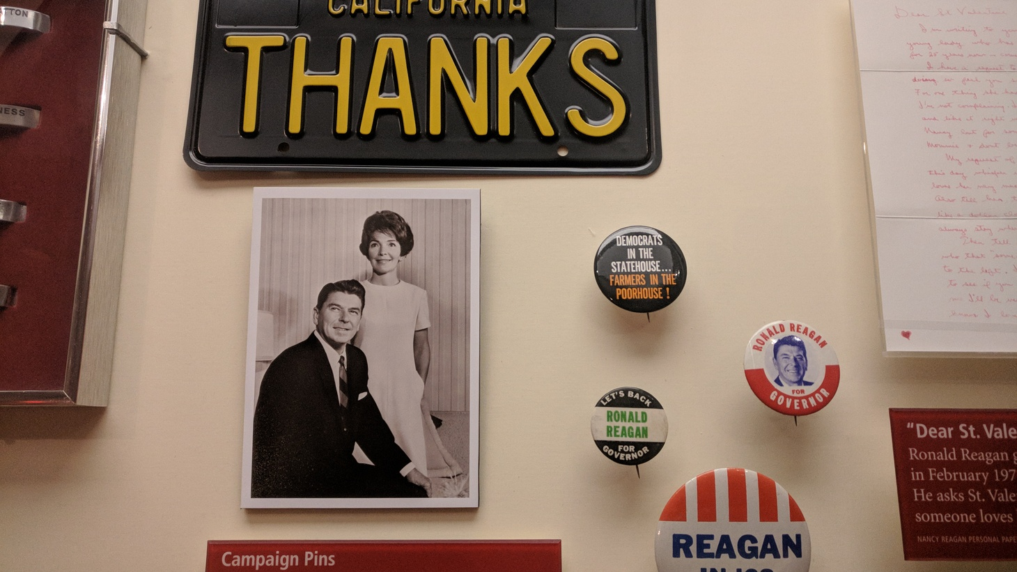 A display at the Ronald Reagan Presidential Library and Museum.