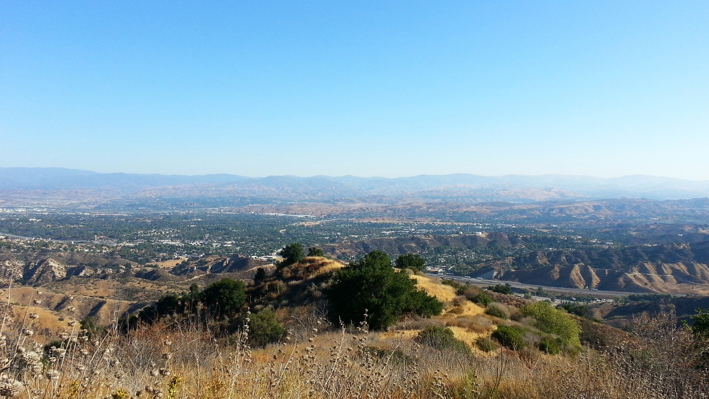 Overlook of Santa Clarita, California.