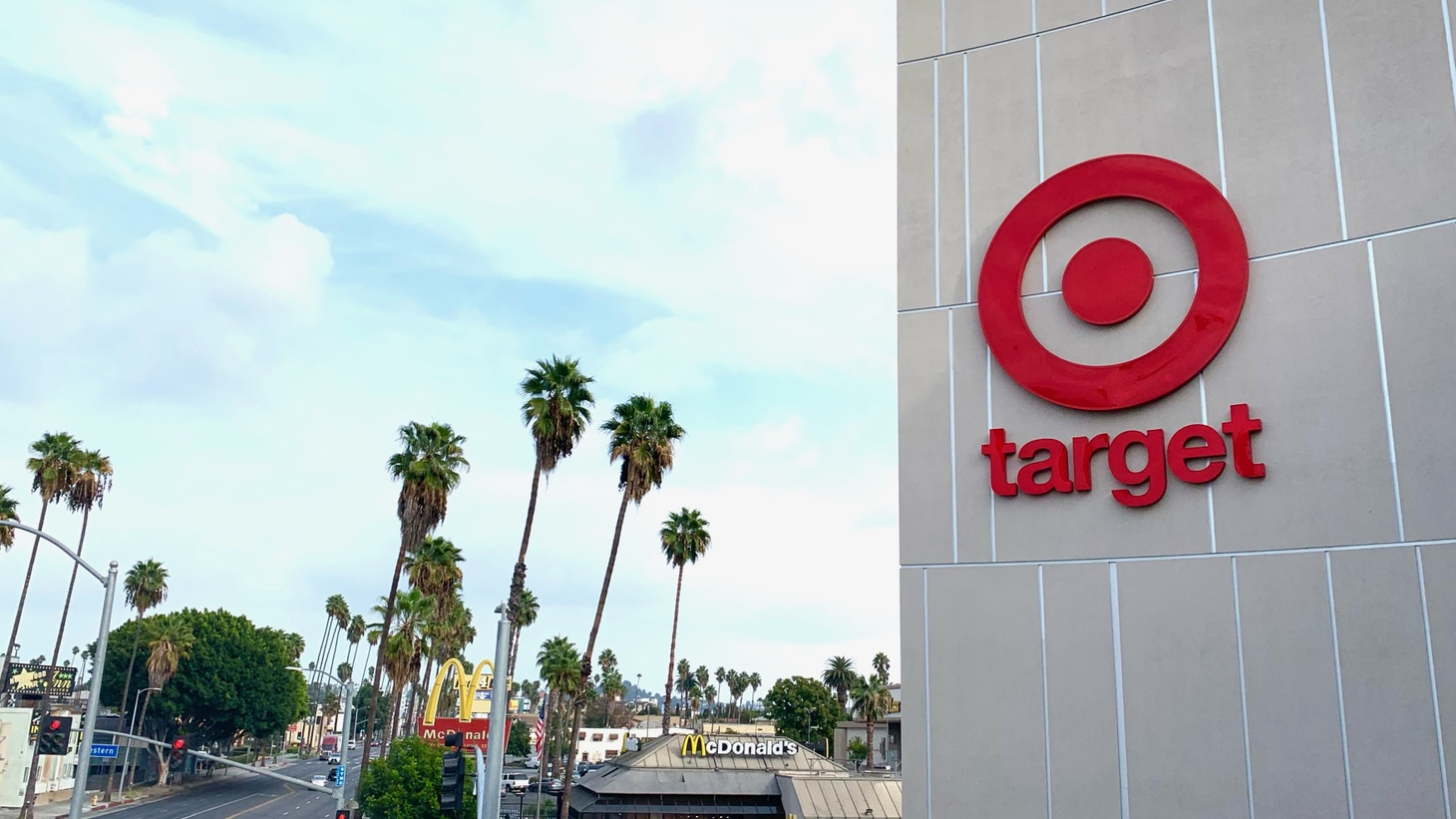 The Target at the corner of Sunset Boulevard and Western Avenue in Hollywood recently opened after several years. It's three stories tall and even has a grocery store inside it.