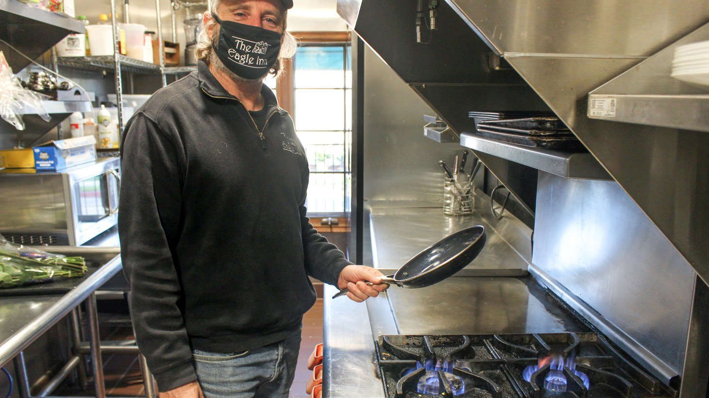Paul Bullock owns the Eagle Inn, where he and his staff use gas stoves to cook breakfast for roughly 60 guests when fully booked. He doesn't want Santa Barbara City Council to ban natural gas lines in new construction.
