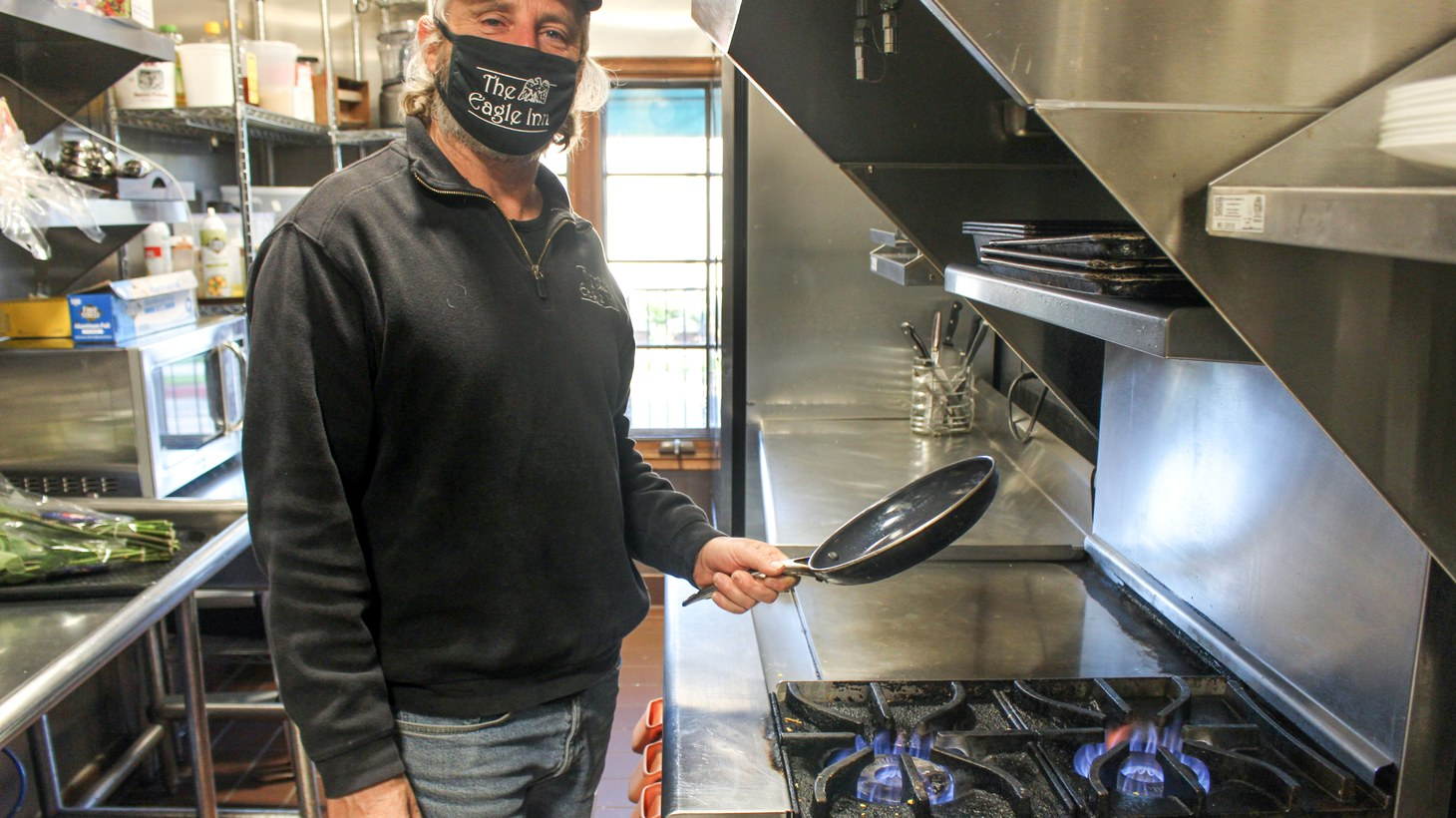 Paul Bullock owns the Eagle Inn, where he and his staff cook breakfast for roughly 60 guests when fully booked. He doesn't want Santa Barbara City Council to ban natural gas lines in new construction.
