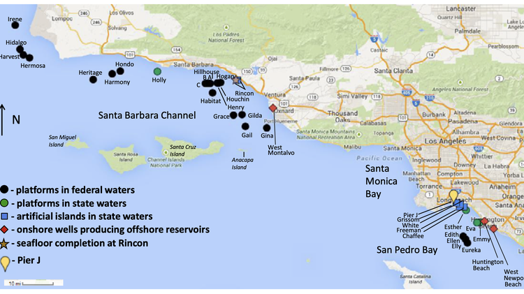 Why abandoned oil platforms dot CA's coast, and living near oil wells means health problems