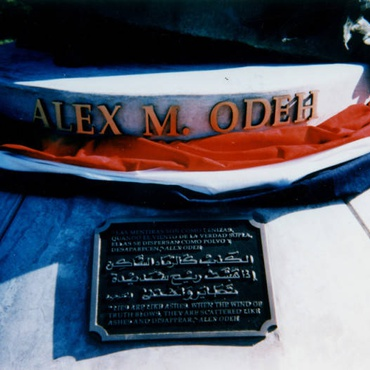 Alex Odeh, a Palestinian American activist, opened the door to the Santa Ana office of the American-Arab Anti-Discrimination Committee on October 11, 1985.