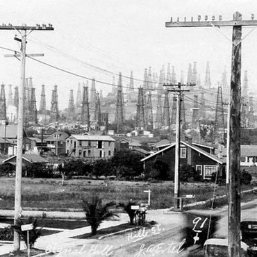 LA was one of the biggest oil-producing regions in the world 100 years ago. Pictures from that time show forests of oil derricks dotting the landscape.