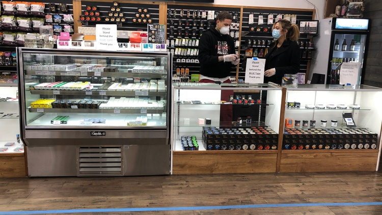 """California has deemed cannabis dispensaries an    essential business    under the state's    """"Stay at Home"""" order   ."""