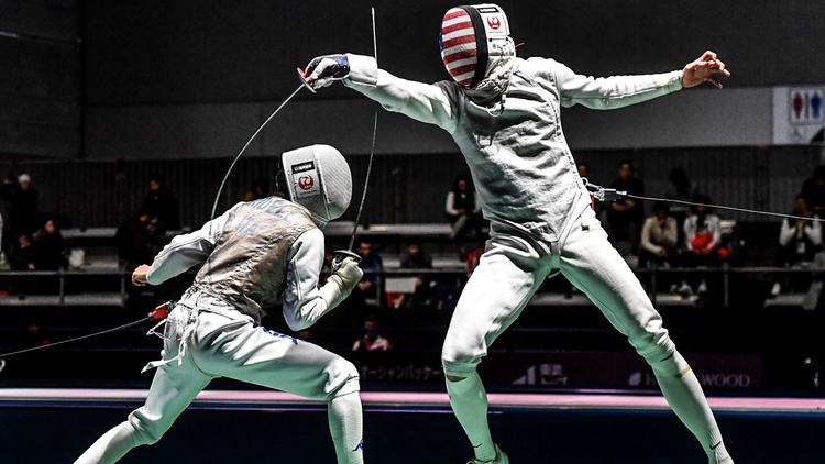 """Nick Itkin says his U.S. team has a chance at winning gold. """"We're actually ranked number one in the world — our men's foil team. And we won the World Championships last year as well."""