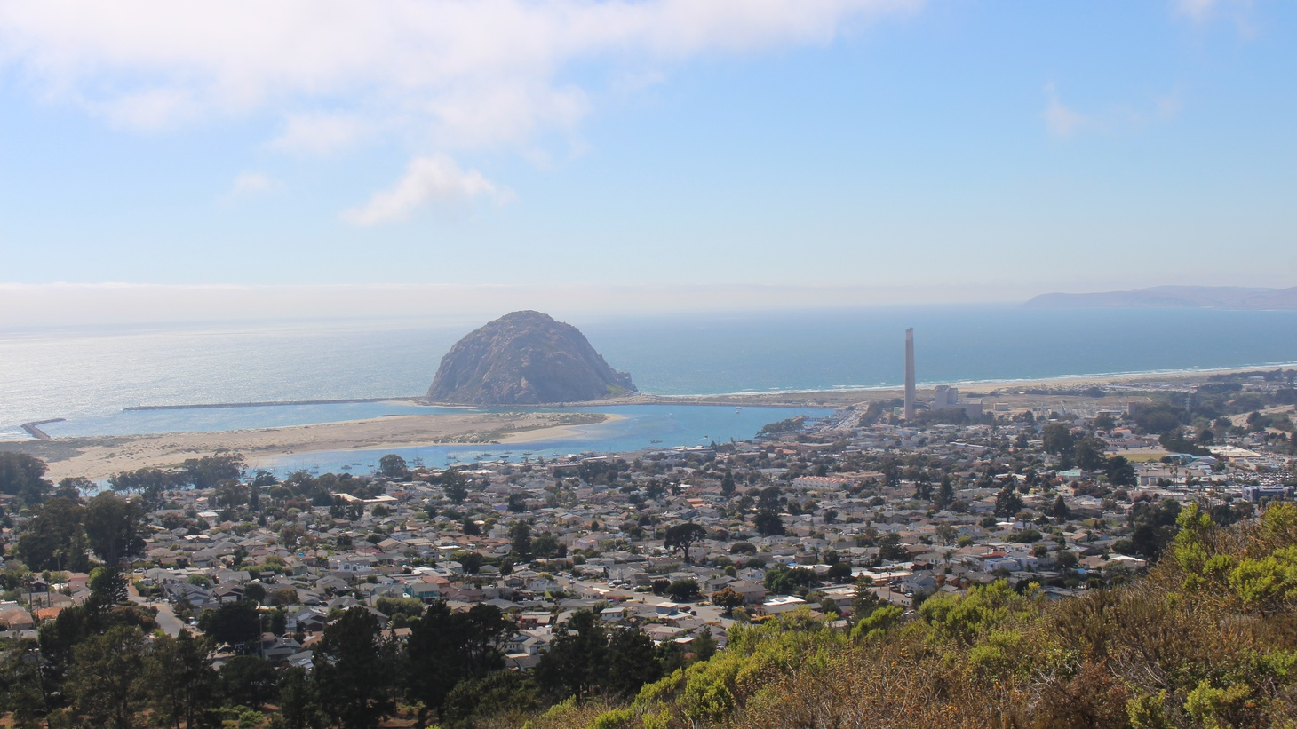 A view of the Morro Bay harbor from Black Hill. The wind farm will be located northwest of the city and impact local fishermen.