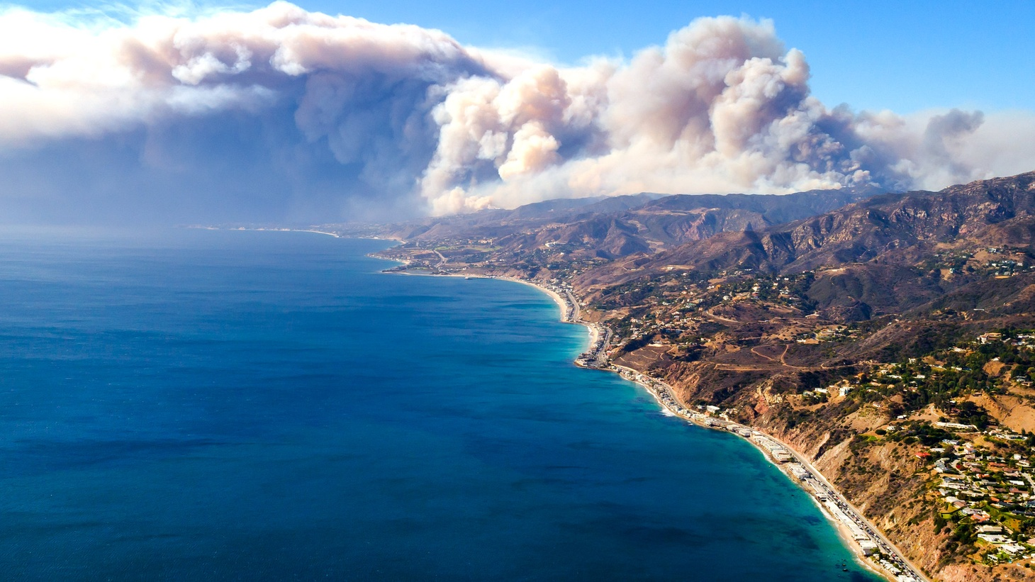 The Woolsey Fire seen from above.