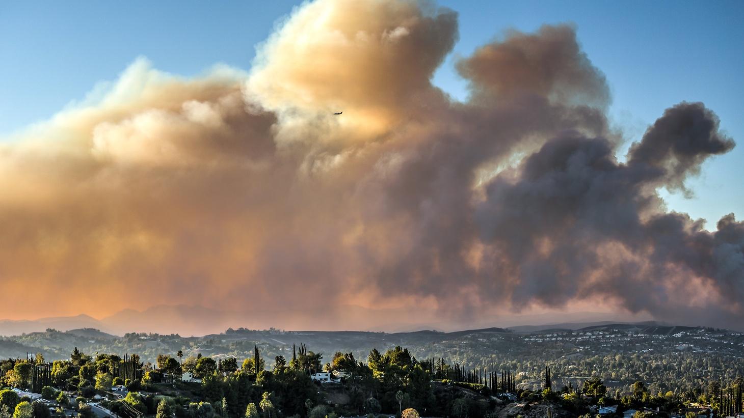 The Woolsey Fire seen from Topanga, California.