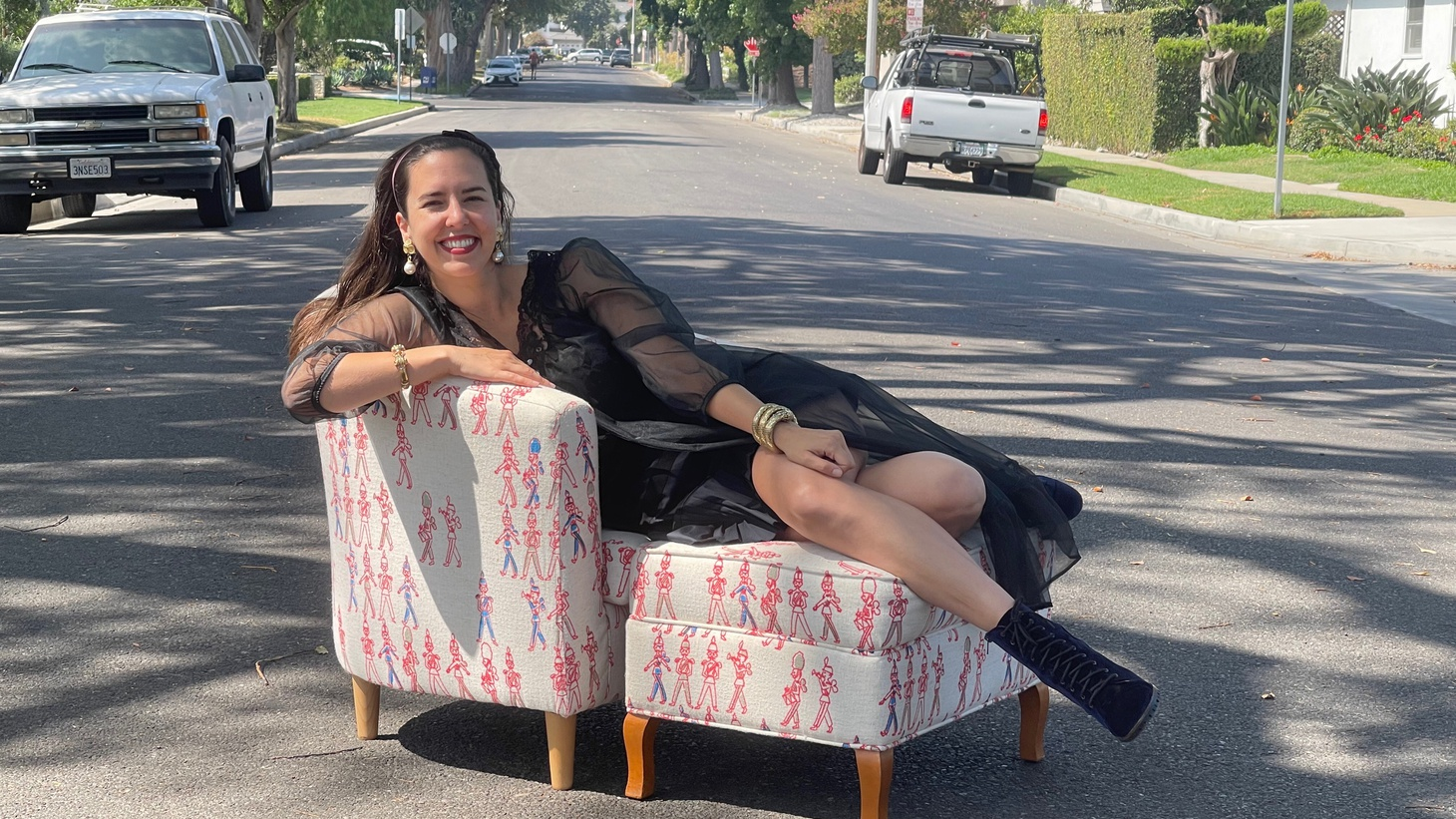 Analise McNeill is a furniture salvager and says much in her home is filled with items she found on the streets of LA.