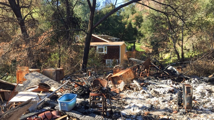 For one woman, heavy emotions a year after Woolsey Fire