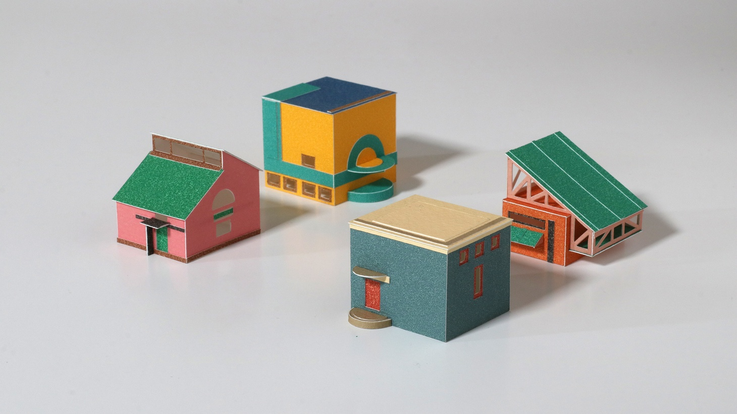 Artist Charles Young created paper model renderings for the Low-rise housing challenge.