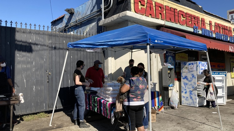 Before COVID-19, street vendor Heleo Leyva ran Quesadillas Tepexco, an East Hollywood food stand. But as the virus began to spread, he was forced to shut down.