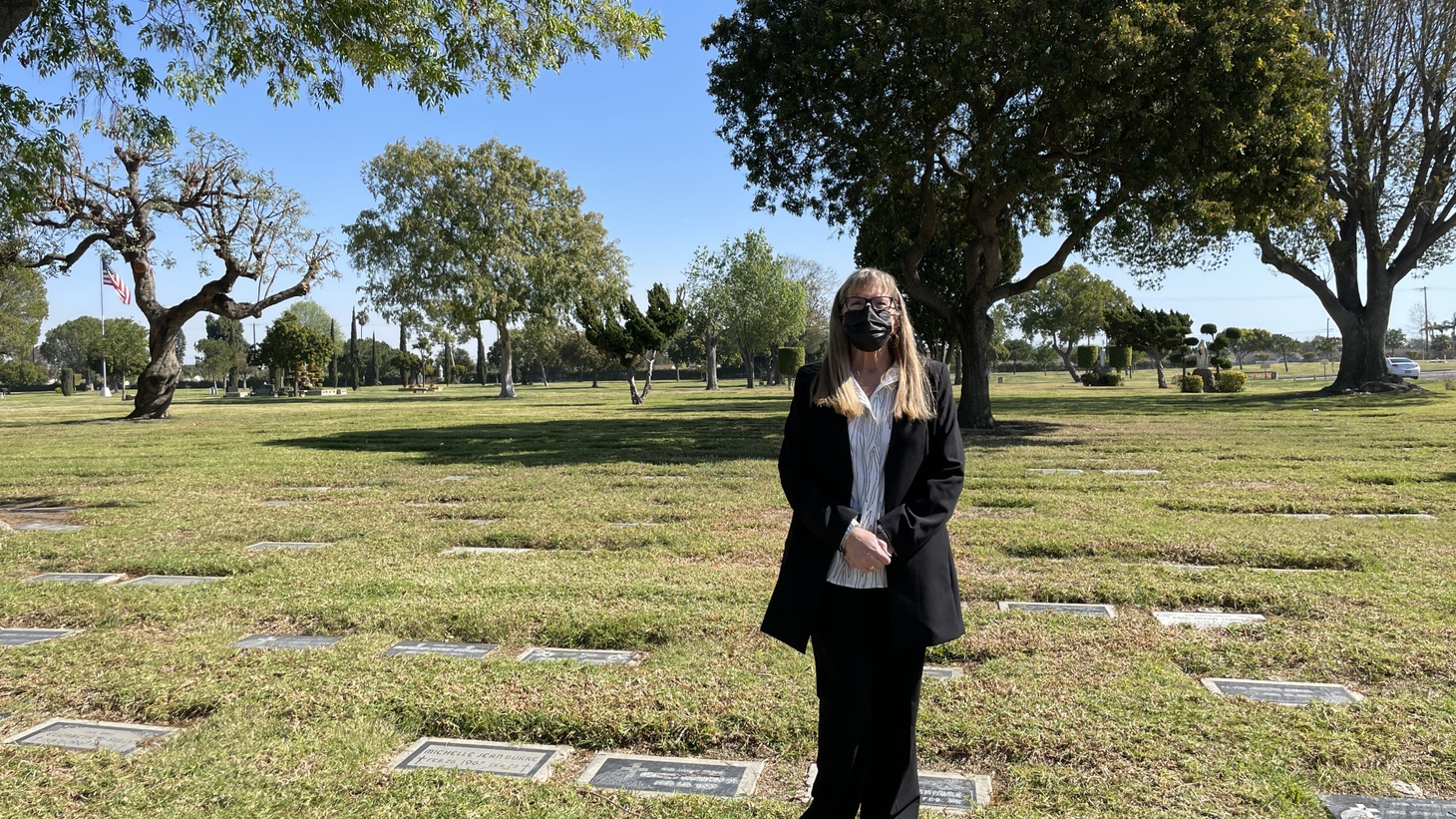 MaryAnn McAdams is the director of All Souls Catholic Cemetery in Long Beach.