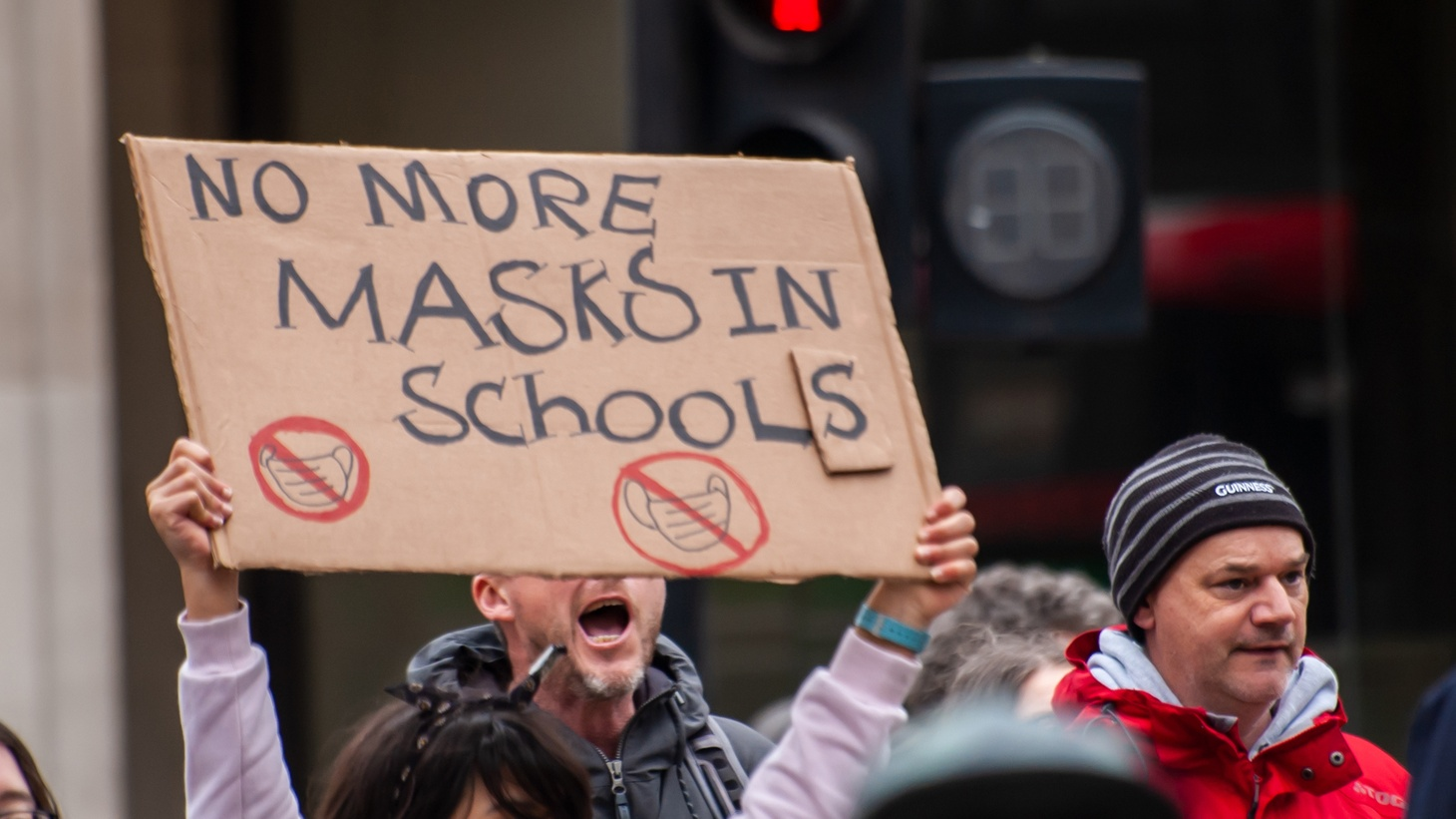 """When Blaine Pope came across anti-mask protestors, he thought, """"How do we have this kind of discussion and not want to scratch each other's eyes out in the process? How do we talk about something that's difficult to talk about, but do so in a respectful way?"""""""