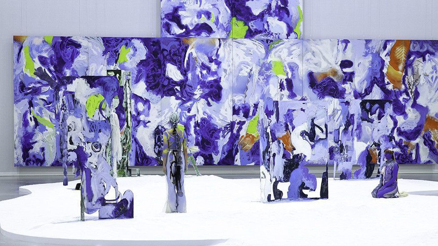 "Live models will be part of Donna Huanca's ""Obsidian Ladder,"" running through Dec. 1 at the Marciano Art Foundation in Los Angeles."