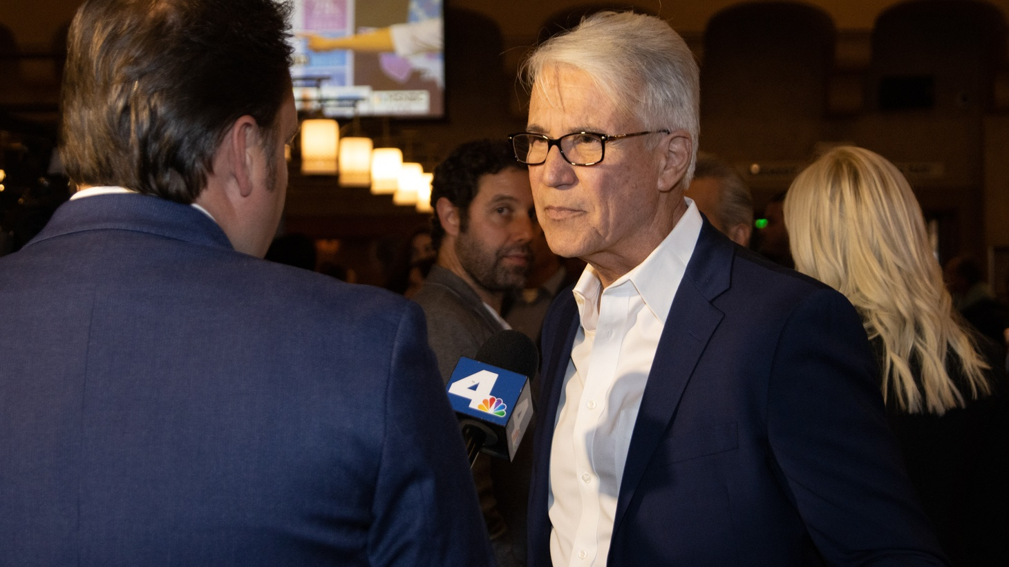 George Gascón at an election night party on March 3, 2020.