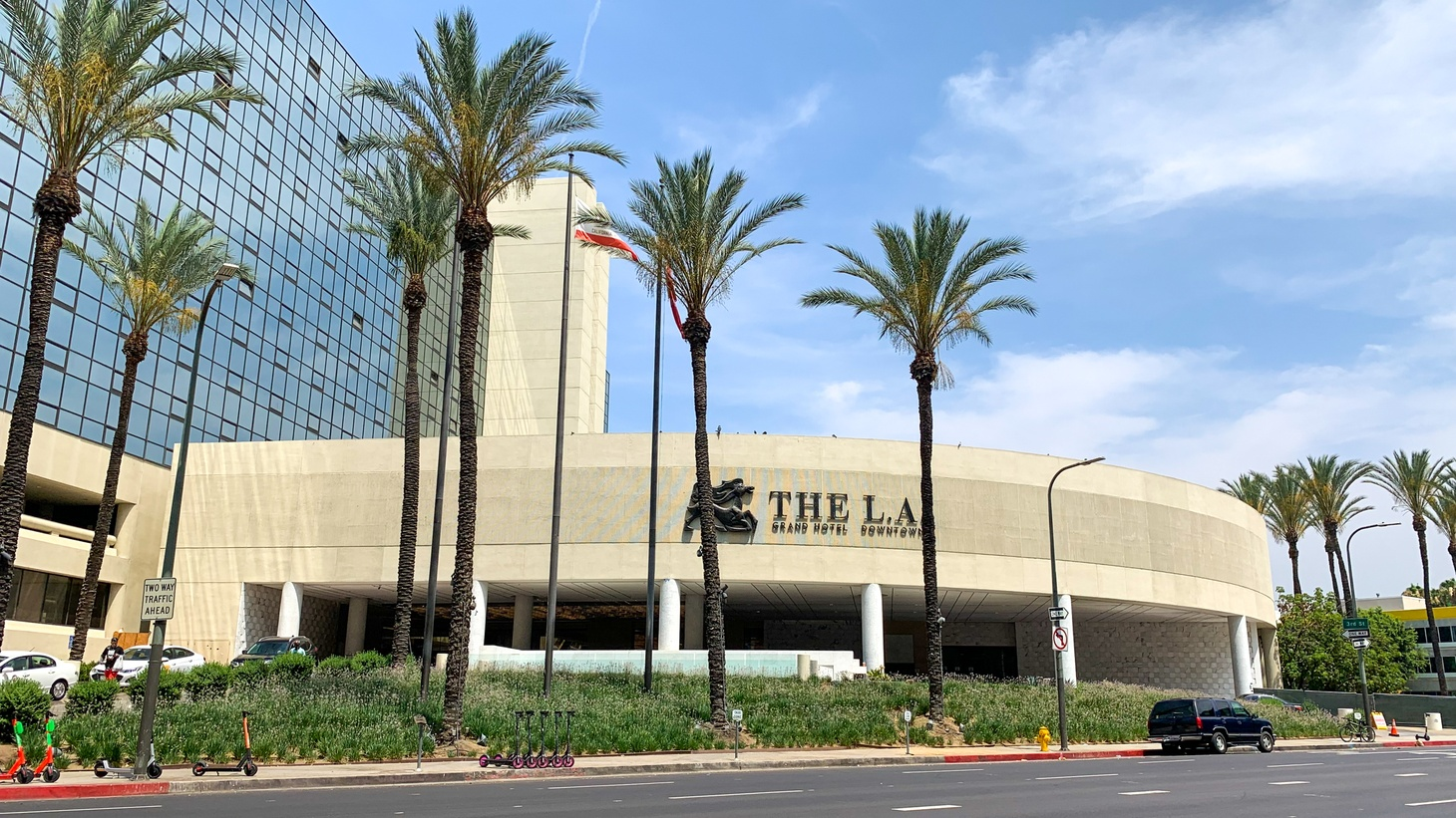 The LA Grand Hotel Downtown is the largest Project Roomkey site in the state sheltering nearly 500 unhoused people.