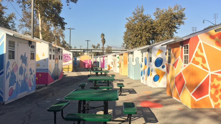 The Arroyo Seco Tiny Home Village has 177 separate sheds for each person or couple who used to live on the streets.