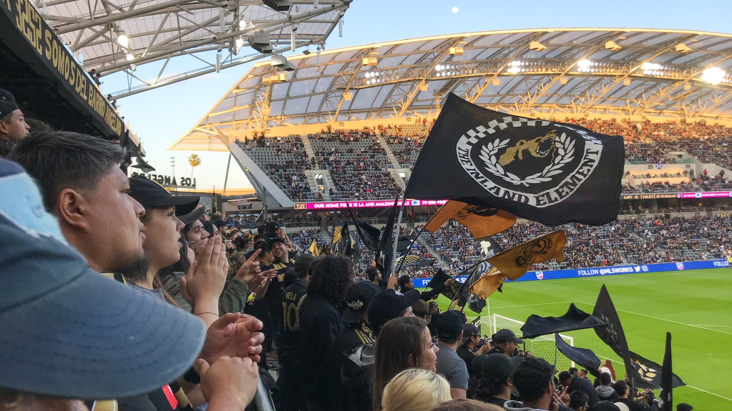 Spectators at a recent LAFC game.