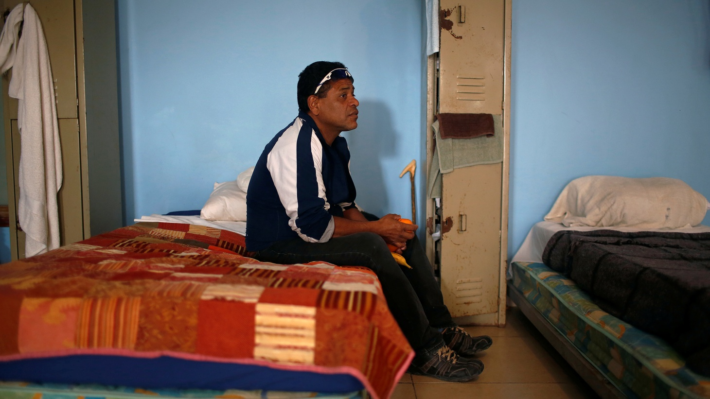 A Honduran migrant deported from the United States rests at Senda de Vida migrant shelter in Reynosa, Mexico January 10, 2019.