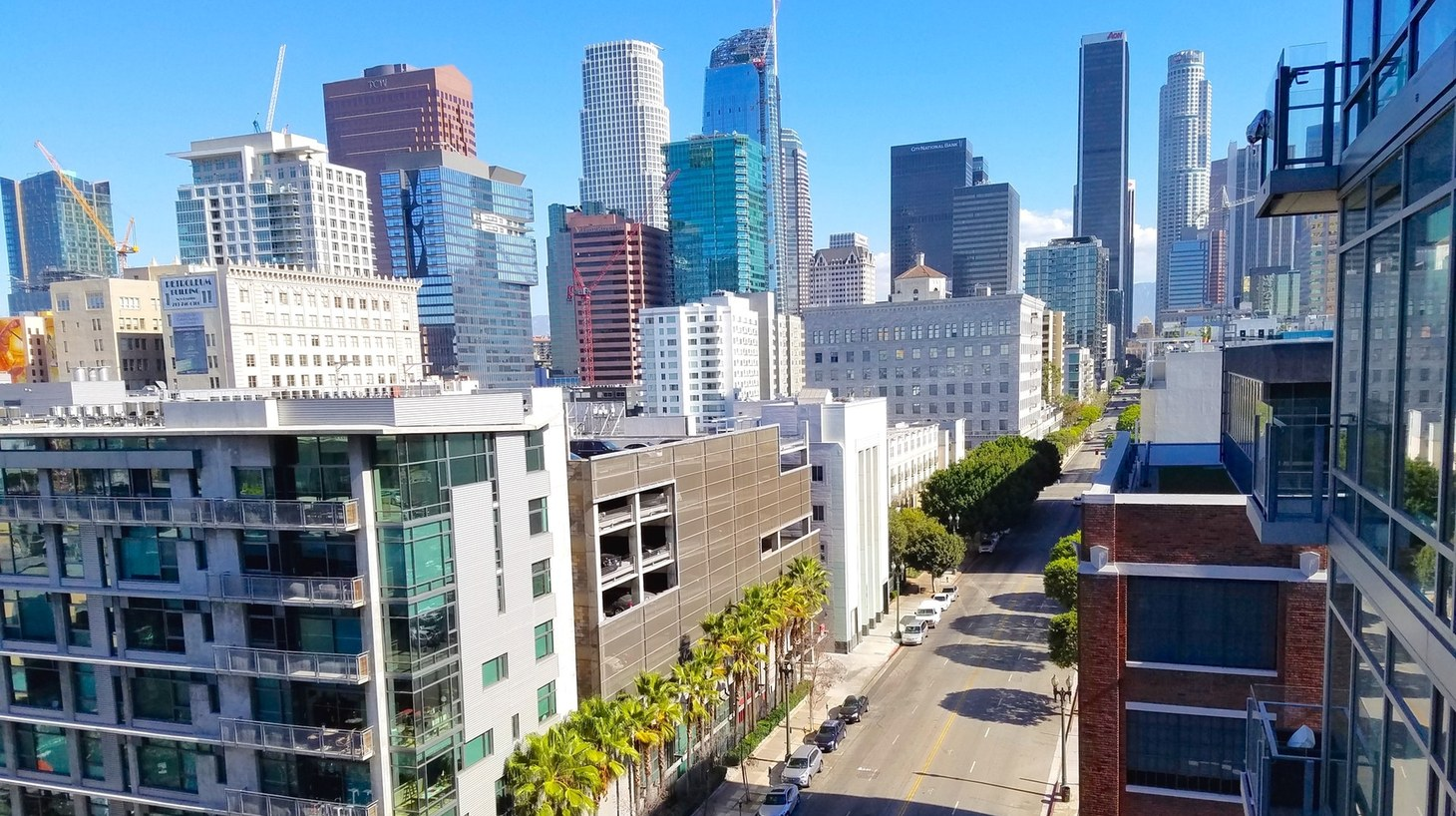 Redevelopment in downtown Los Angeles