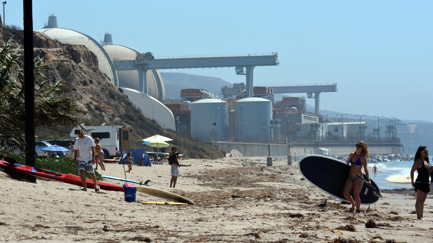 The San Onofre Nuclear Generating Station near San Clemente