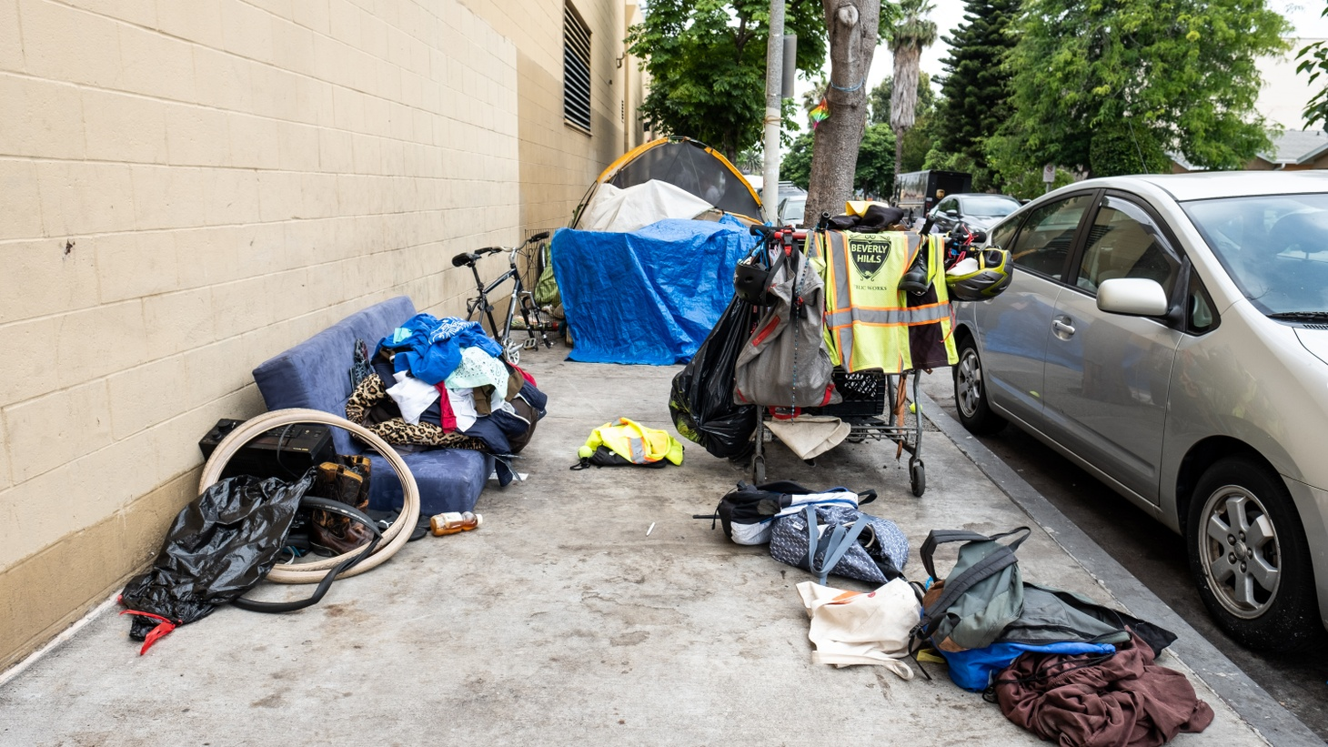 A homeless camp in Culver City, June 6, 2019.