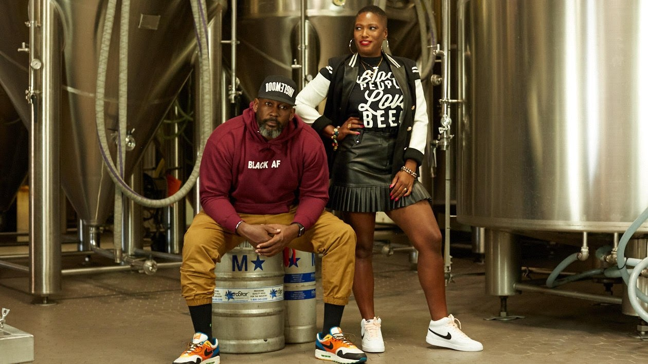 Beny Ashburn (right) and Teo Hunter (left) are determined to protect the city's culture through their brewing company, Crowns & Hops. It will be the first Black-owned brewery in the city.