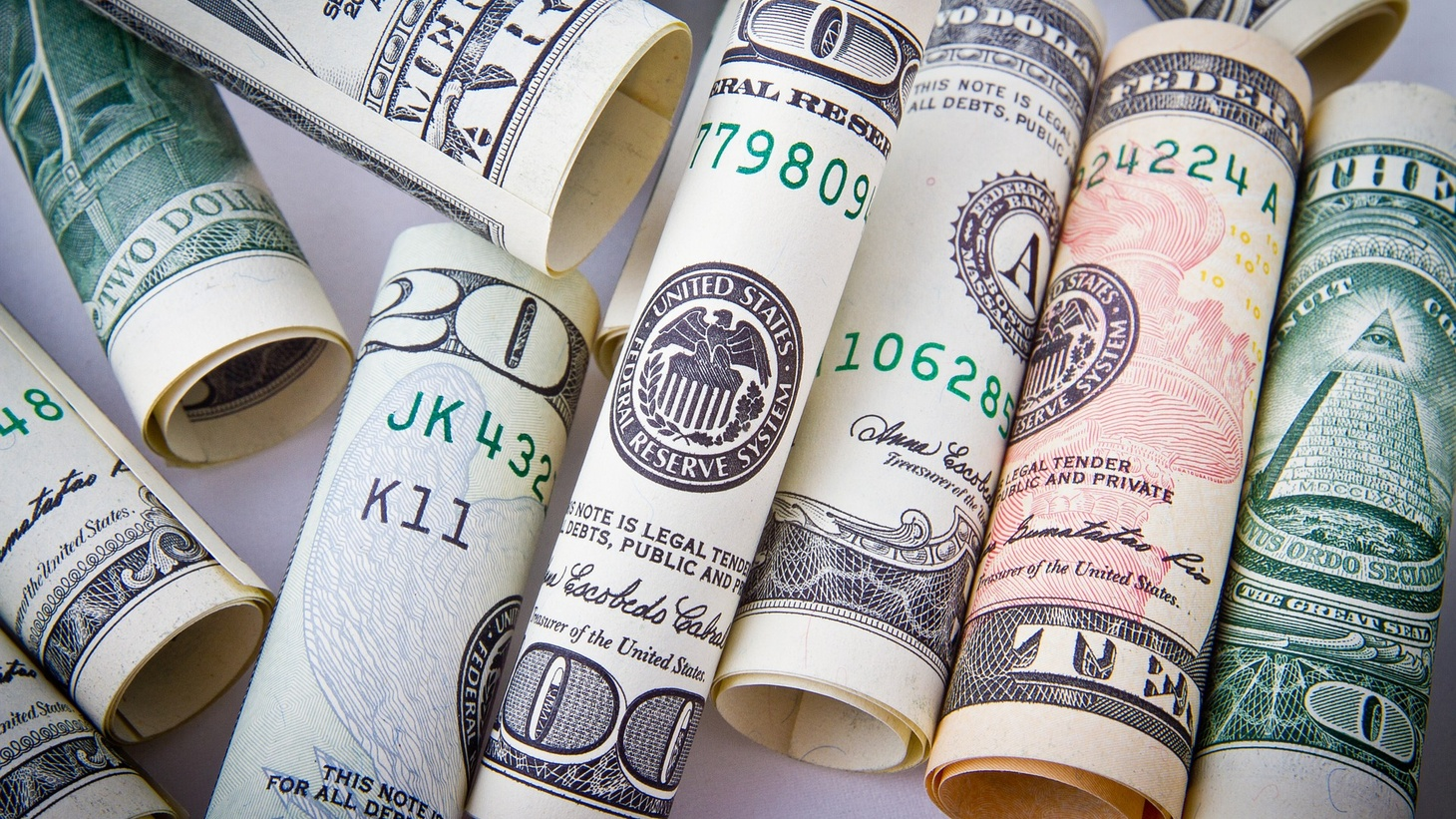 Rolls of cash.