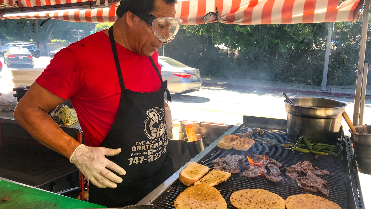 This Guatemalan street food cart is among several that occupy the sidewalk outside the Guatemalan consulate in Echo Park