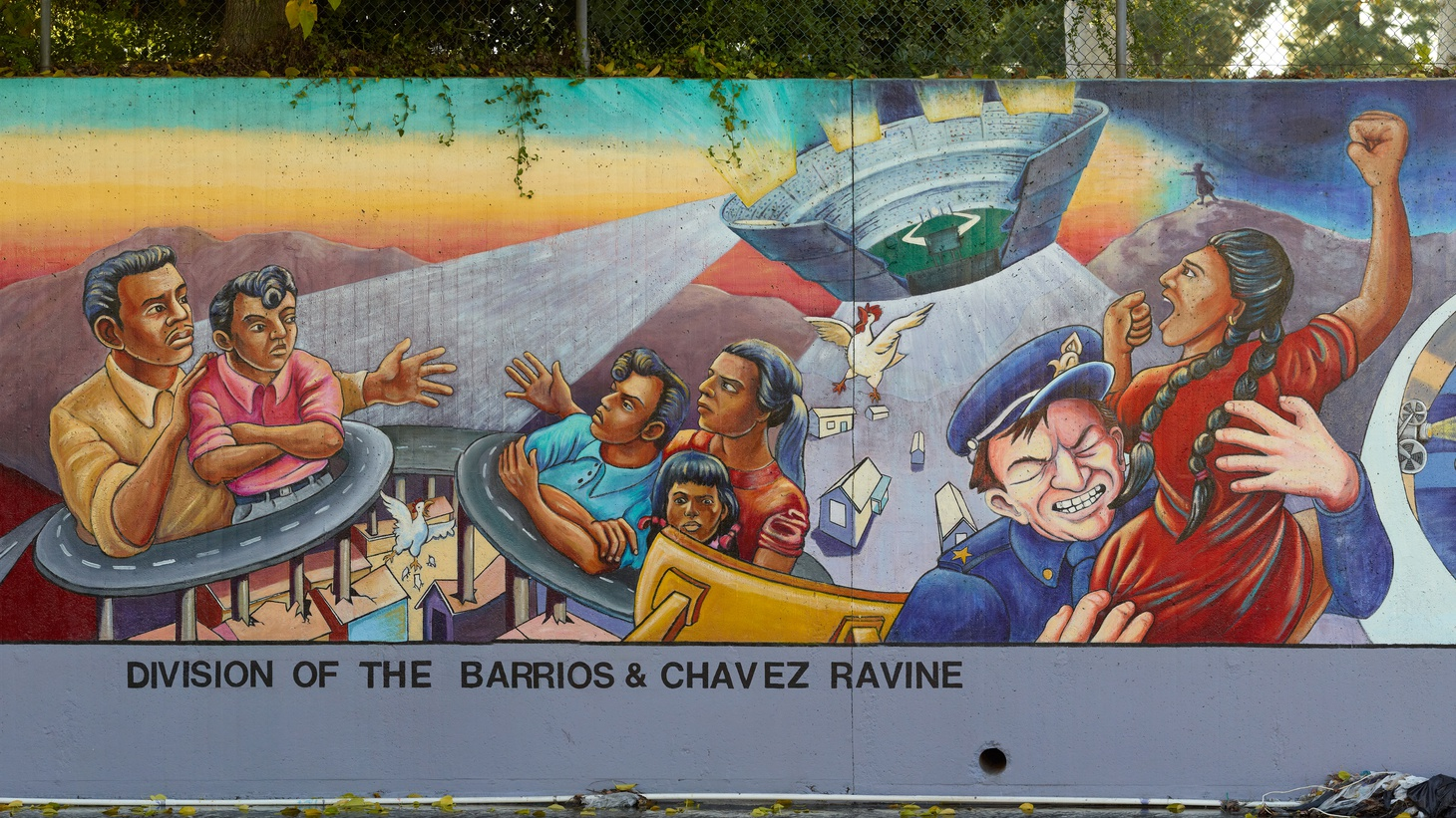 Judy Baca's mural covers lesser known histories of LA's communities of color.