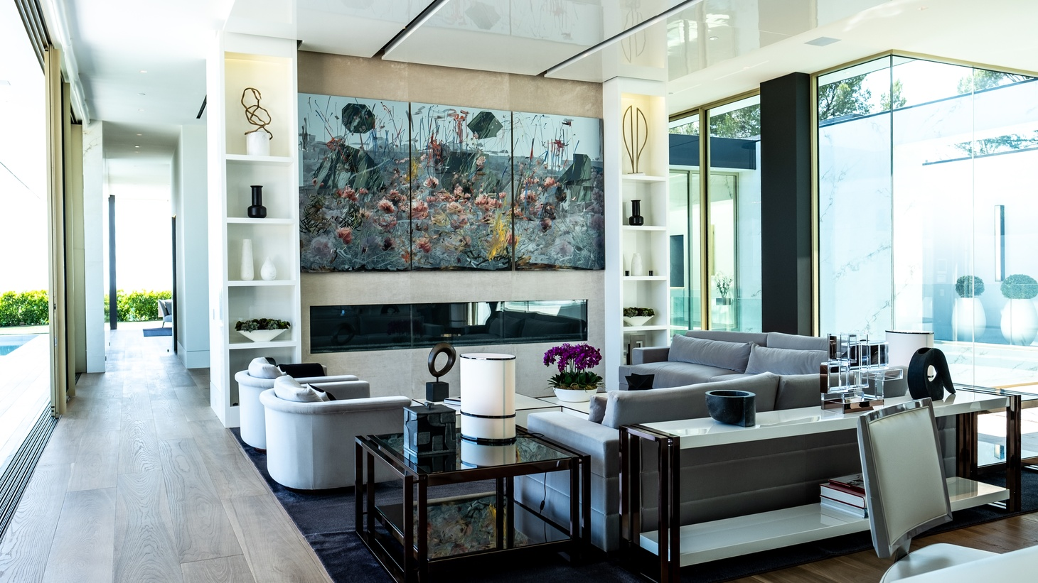 """The living room at """"Opus."""""""