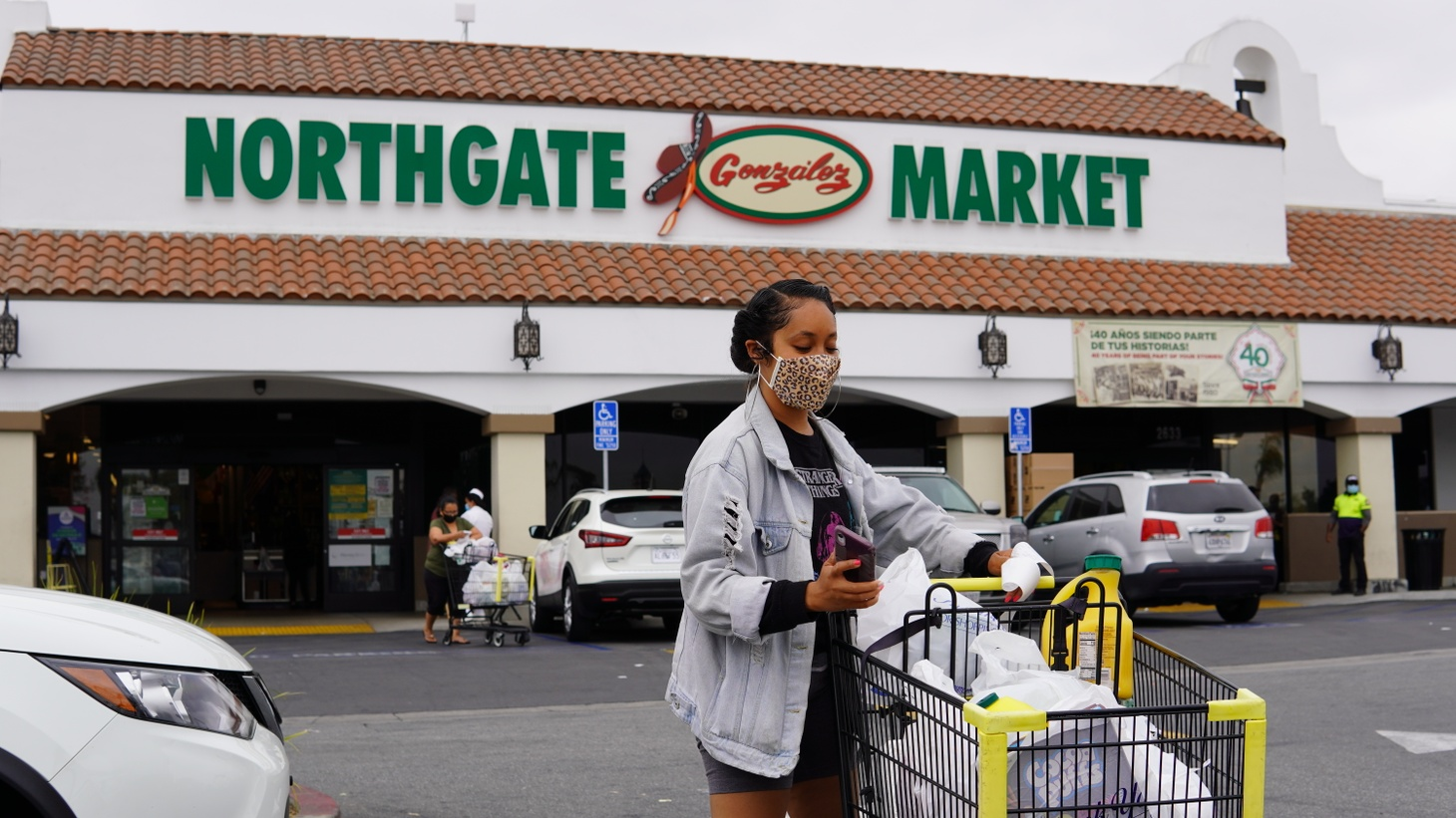 Candida Brevard, a volunteer for People for People, does a grocery run for an Angeleno in need.