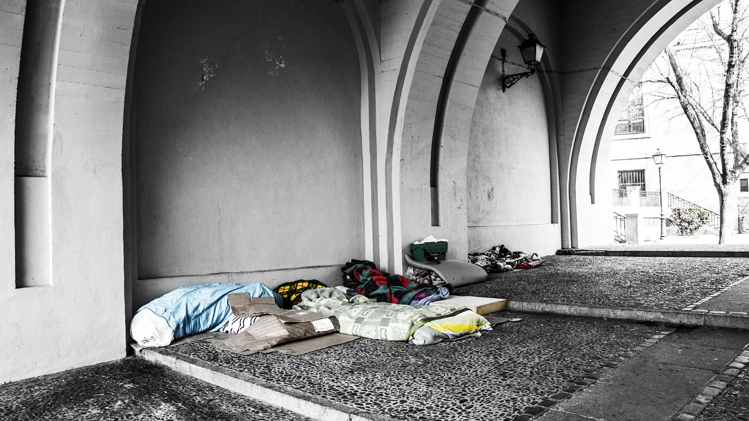 Signs of homelessness.