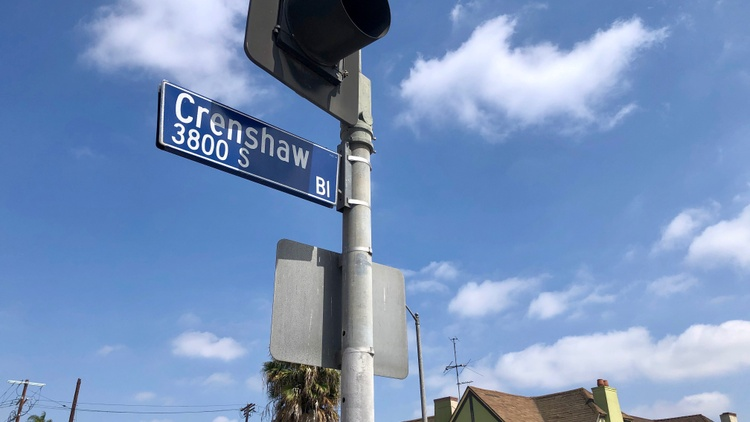Locals identify Crenshaw Boulevard as the main artery of Black culture in Los Angeles, while the man it's named for was white.
