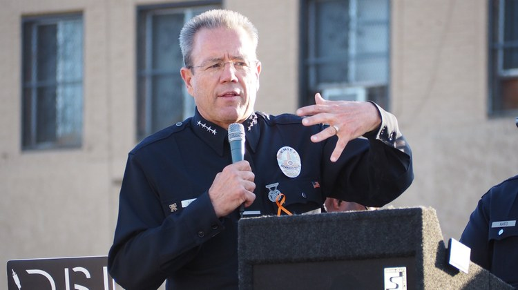 LAPD Chief Michel Moore on efforts to 'defund the police'
