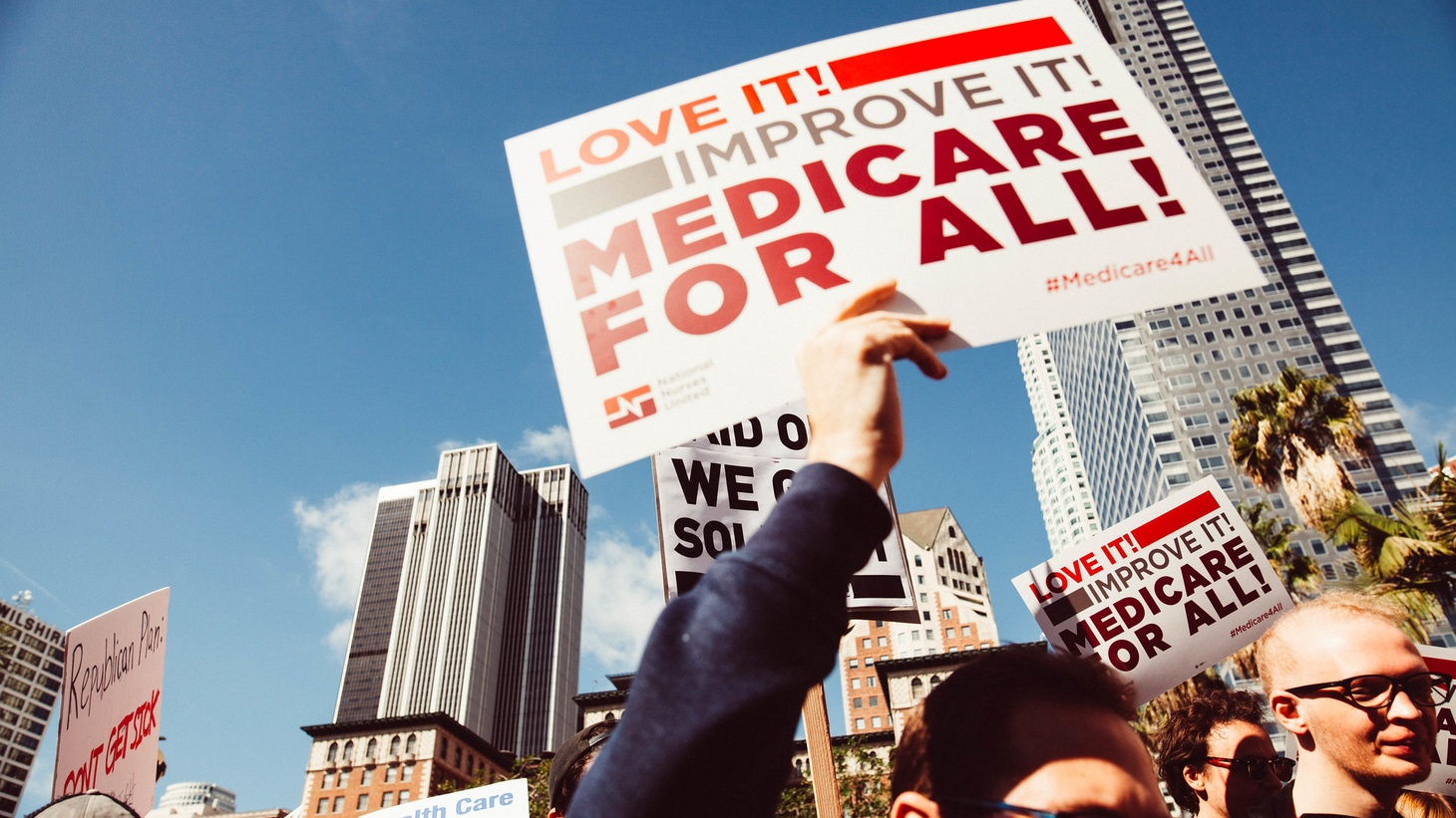 """Medicare for All"" rally, Los Angeles."