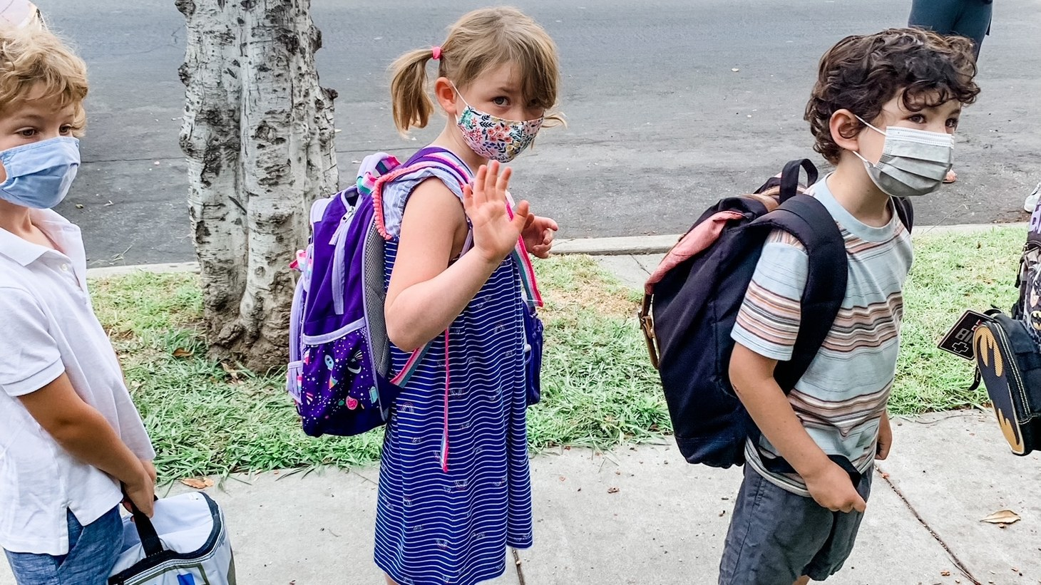 Misty LeGrande dropped off her 5-year-old daughter Millie on her first day of kindergarten at Franklin Avenue Elementary in Los Feliz.