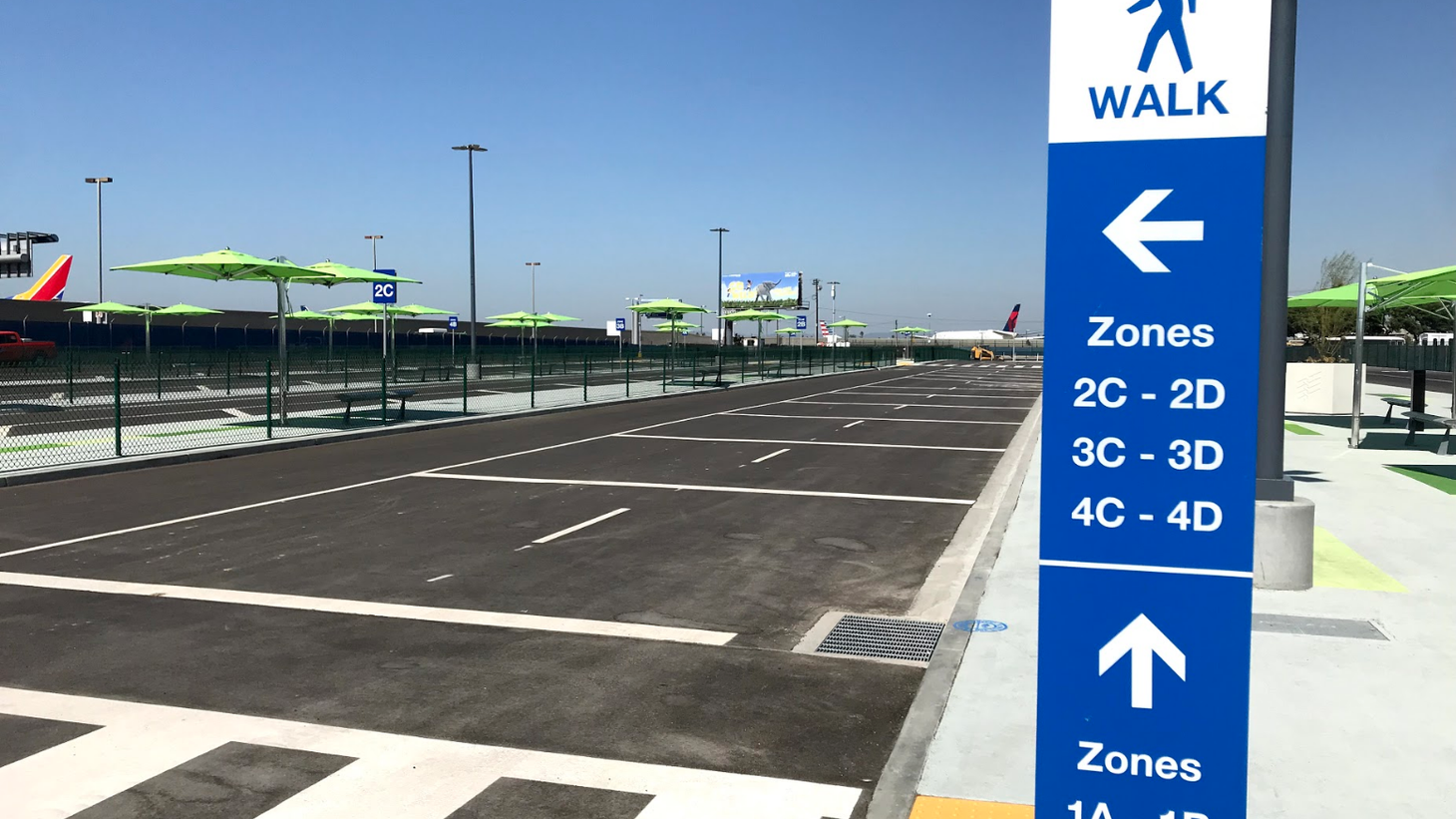The new Uber, Lyft, Opoli and taxi pickup area at LAX