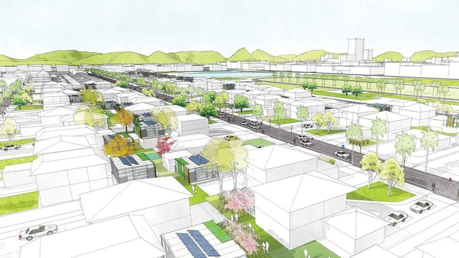 Lilliana Castro, Allen Guillen, and Cheuk Nam Yu won first place in Yes to ADUs, a design competition