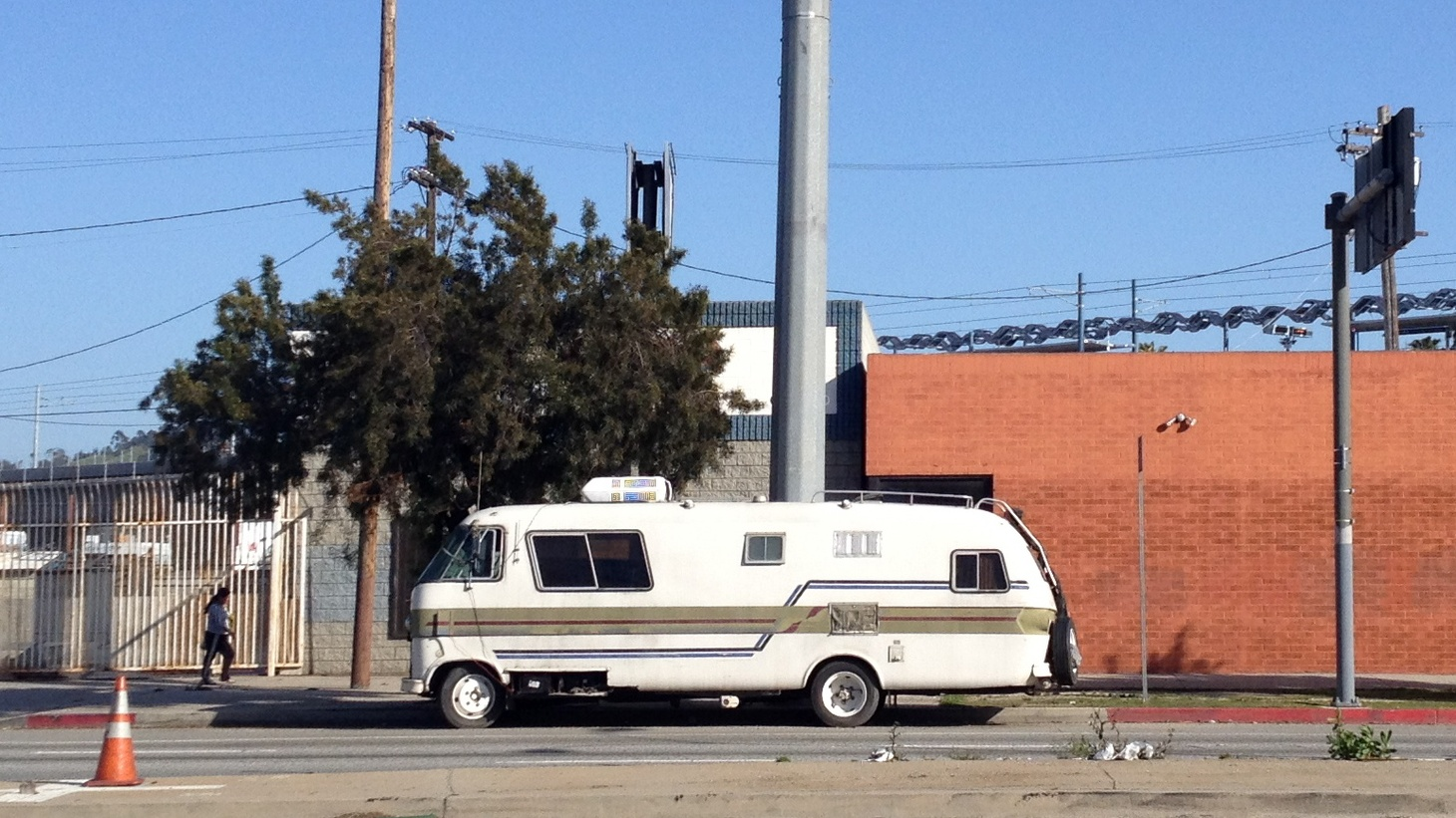 A mobile home in Los Angeles.
