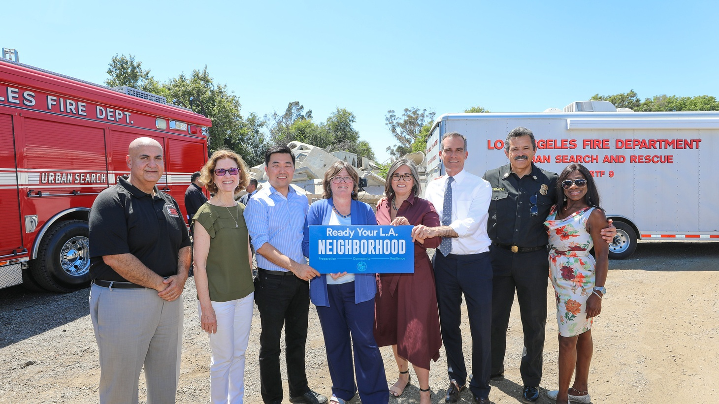 Mayor Garcetti has launched a new initiative to strengthen emergency preparedness in L.A. neighborhoods. It's called Ready Your L.A. Neighborhood.