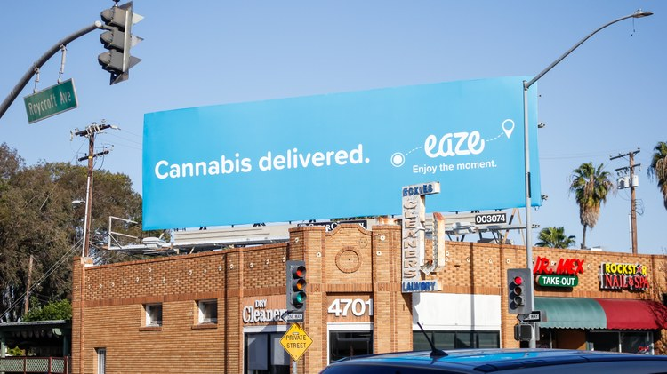 California's regulations surrounding cannabis billboards are hazy, to put it bluntly. Proposition 64, which made cannabis legal, banned billboards on interstate freeways like the 10.