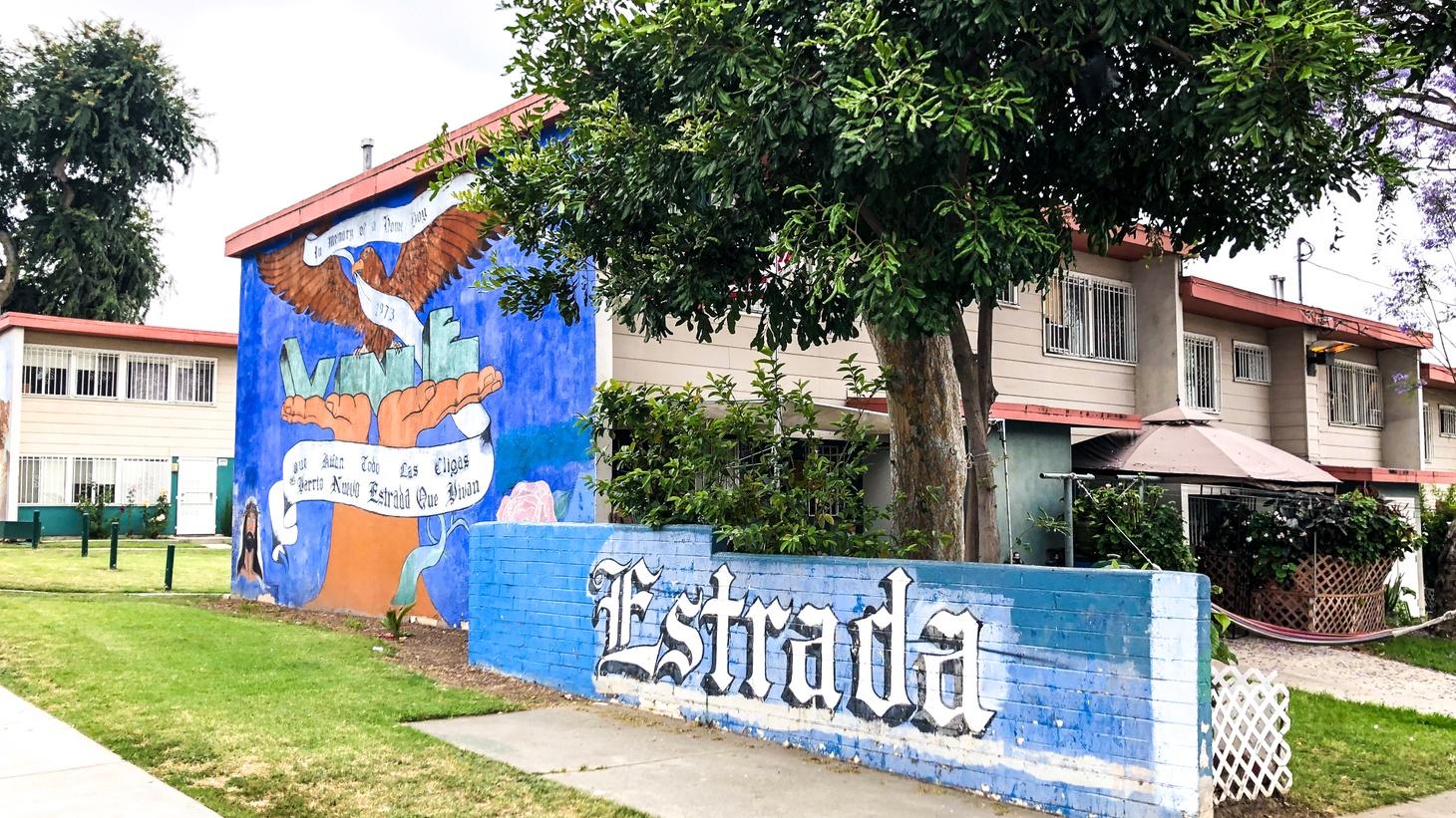 A mural at Estrada Courts in East LA.