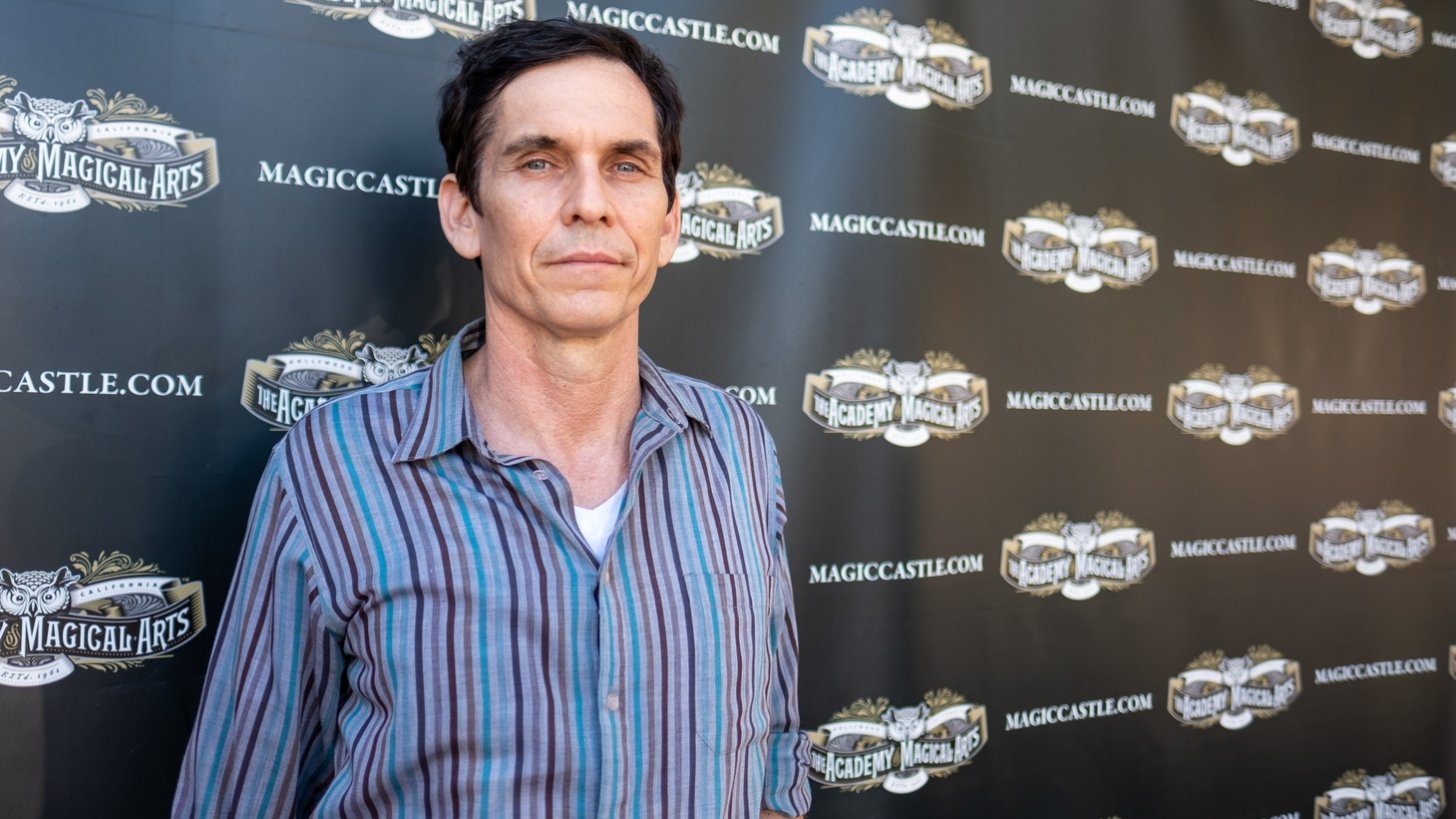 Rob Zabrecky outside the Magic Castle nightclub in Hollywood, August 2019.