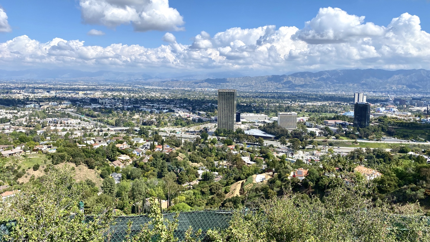 A view of Los Angeles from the Hollywood hills. The air is much fresher during this pandemic, since Angelenos are driving a lot less. Can we keep this up? March 21, 2020.