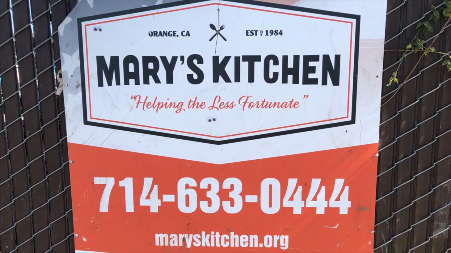 The City of Orange has ordered Mary's Kitchen to stop its services and vacate its lot this Saturday. Organizers have created a petition to save it.