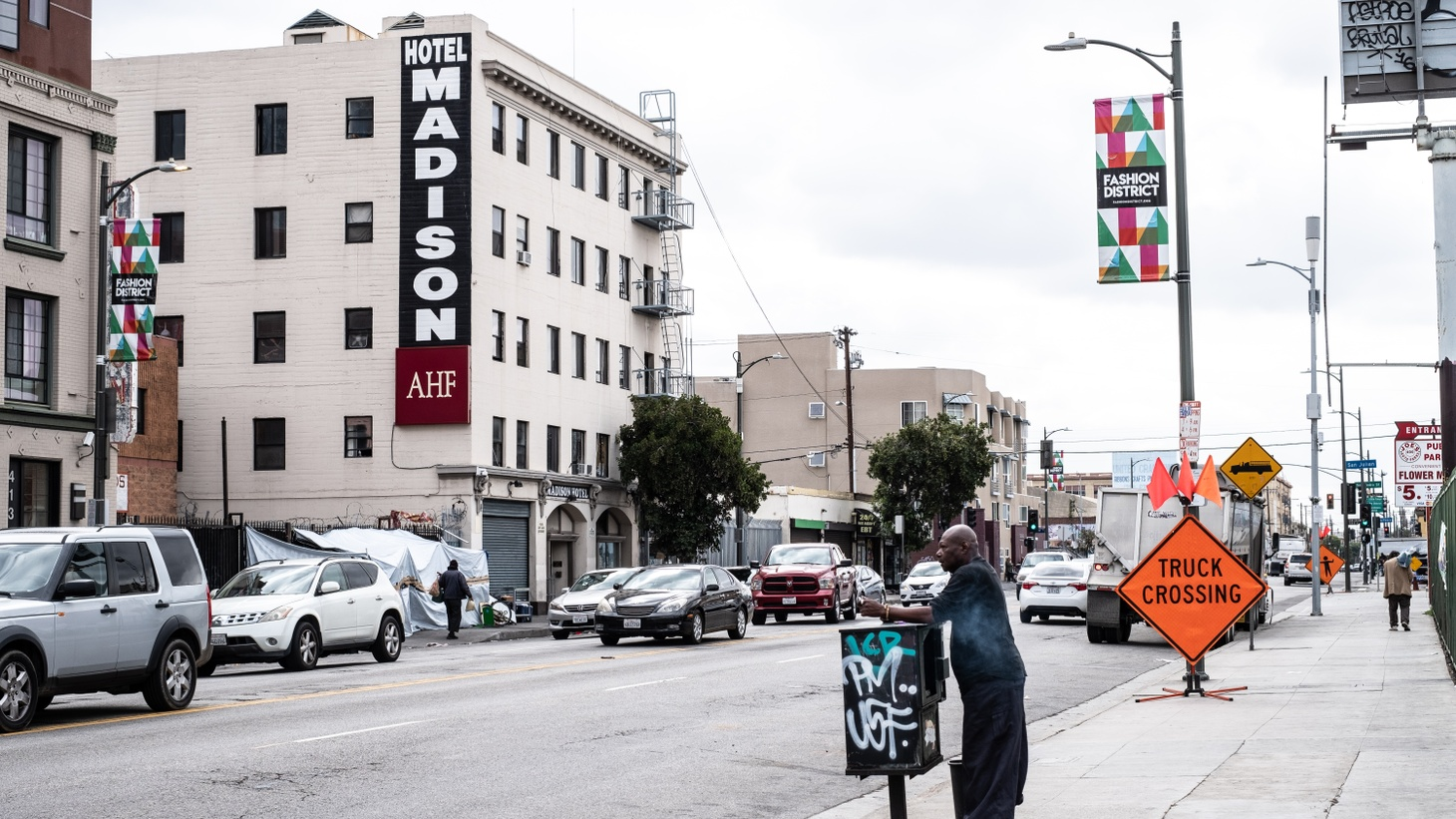 The Madison Hotel is a single-room occupancy hotel near Skid Row in downtown LA.
