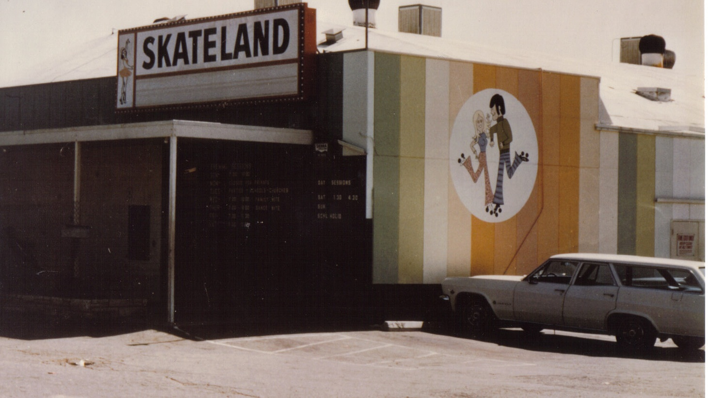 The exterior of Skateland in 1975. Hope of the Valley, a service provider for unhoused people, aims to turn this rink into a shelter by November 2021 — with 100 beds, plus case managers, storage space, mental health services, and recovery programs on-site.